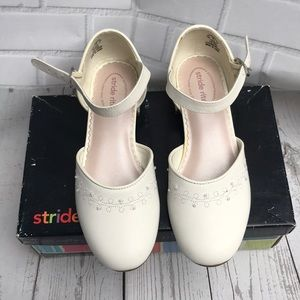Stride Rite White leather dress shoes girls